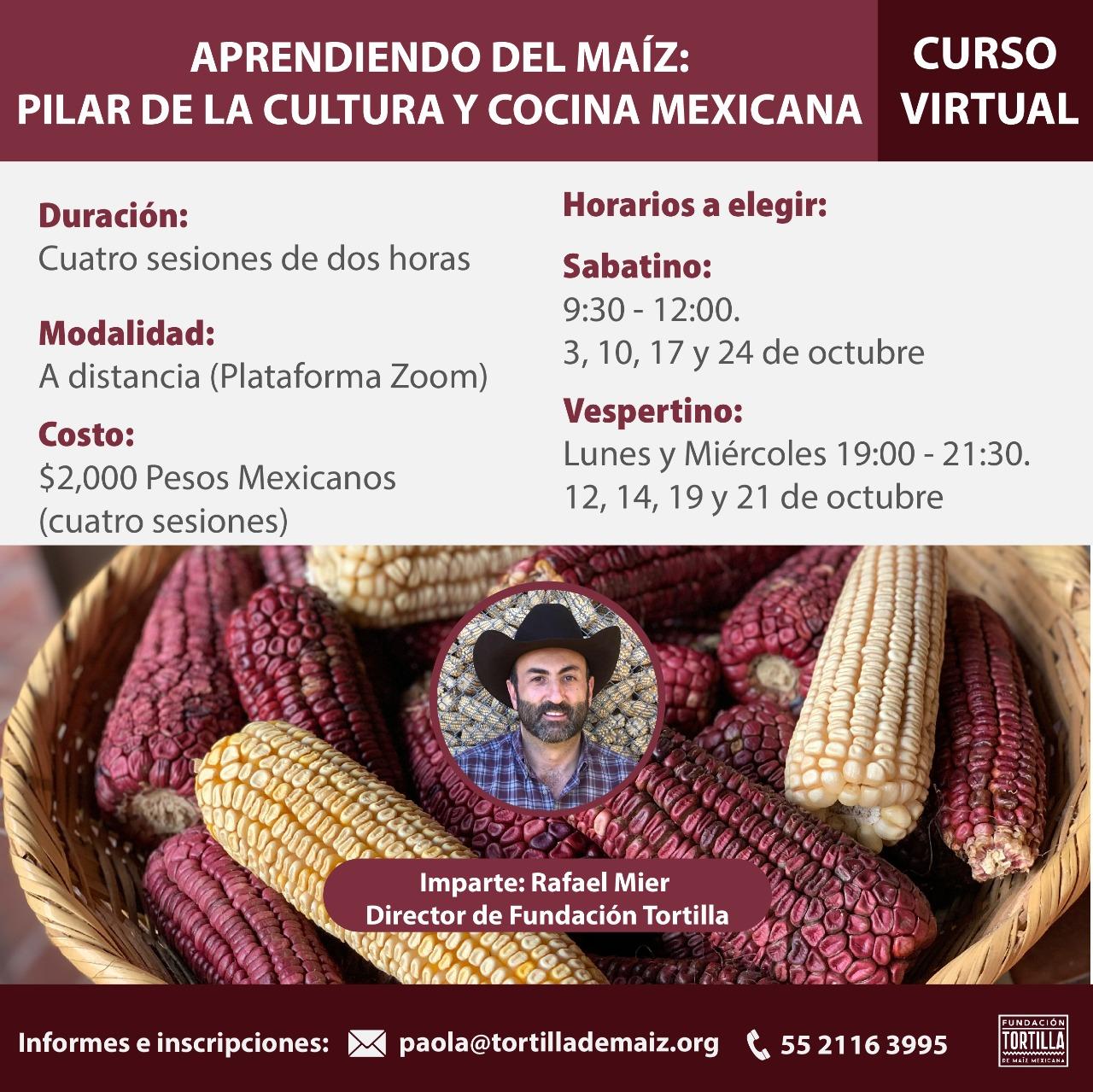 curso virtual curso de nixtamalización curso sobre maíz curso Rafael Mier