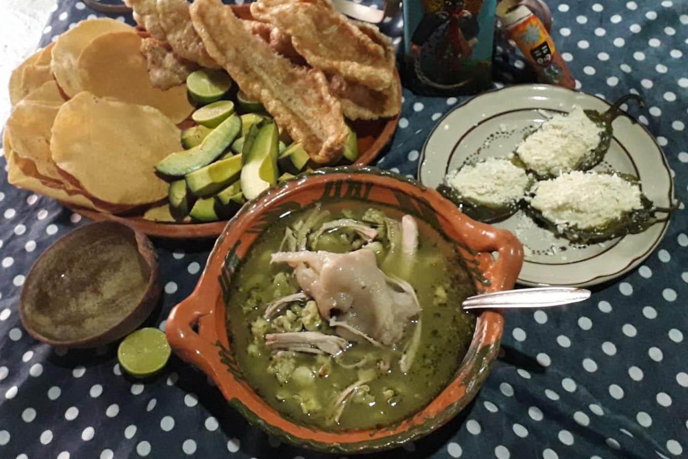 receta de pozole verde de guerrero casa tixtla Luzmy del Carmen