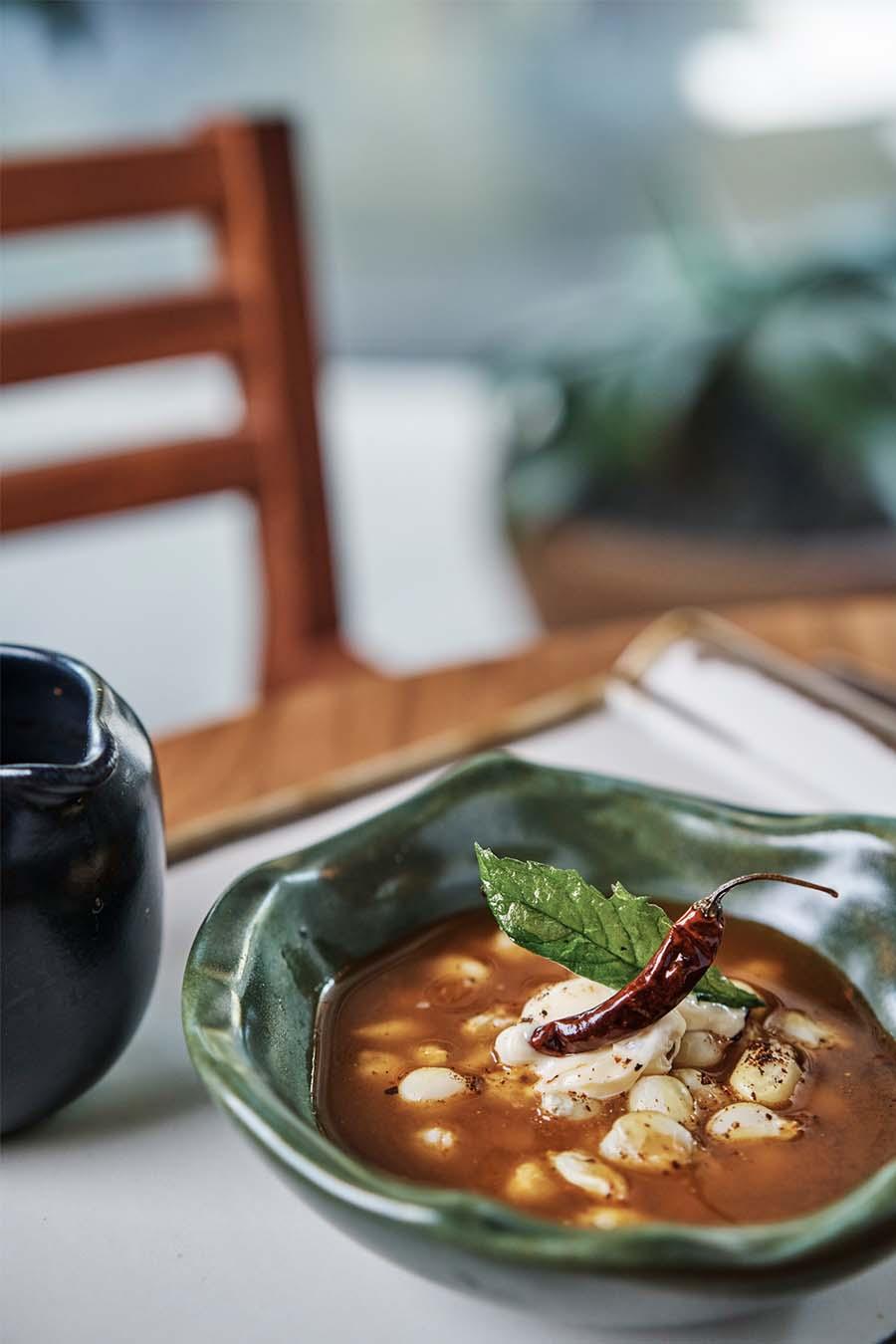 sopa de maiz cacachuacintle Lula Martin del campo restaurante cascabel